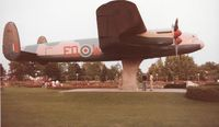 FM212 - Avro Lancaster B10 at Jackson Park Windsor Ontario. Currently at Windsor Airport being restored.  This was taken circa 1983 by my grandfather Louis Dzialo
