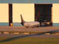 G-CIBE @ TPA - Blue Panorama 737-400