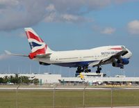 G-CIVD @ MIA - British 747-400