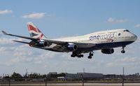 G-CIVL @ MIA - British One World 747-400