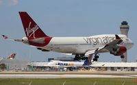G-VBIG @ MIA - Virgin 747-400