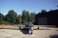 MT-37 @ EBBL - Fouga Magister of the 33 smaldeel of the Belgian Air Force, Kleine Brogel Air Base, Belgium, 1991. - by Henk van Capelle