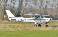 G-BZHF @ EGSV - Just landed. - by Graham Reeve