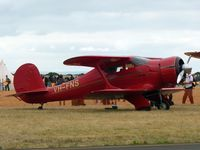 VH-FNS @ YMPC - Beech Staggerwing at the RAAF100th Anniversary Airshow, Pt Cook, March 2, 2014