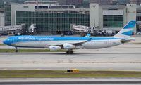 LV-CSE @ MIA - Aerolineas Argentinas newest livery A340-300