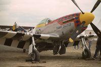 N11T - P-51D-30-NA, c/n 122-40965, serial 44-74425, on display at Paris-Le Bourget Airport (1er Salon de l'Aviation Ancienne, 1994). - by J-F GUEGUIN