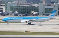 LV-CSX @ MIA - Aerolineas Argentinas A340-300