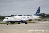 N197JB @ KSRQ - JetBlue Flight 164 (N197JB) Color Me Blue prepares for flight at Sarasota-Bradenton International Airport - by Donten Photography