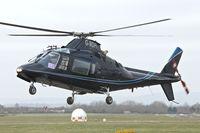 G-MDPI @ EGBJ - 1987 Agusta A-109A-2, c/n: 7393