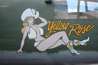 N25YR @ LAL - Yellow Rose B-25