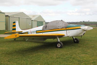 G-AYFF @ X5FB - Rollason Druine D-62B Condor, a resident at Fishburn Airfield UK, march 2014. - by Malcolm Clarke