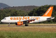 G-EZAB @ LFKJ - Landing