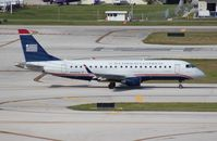 N108HQ @ FLL - US Airways E175 - by Florida Metal