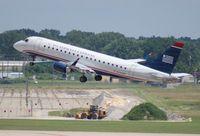 N134HQ @ DTW - USAirways E175 - by Florida Metal