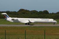 F-HMLF @ LFRB - Canadair Regional Jet CRJ-1000, Take off Rwy 07R, Brest-Guipavas Airport (LFRB-BES) - by Yves-Q