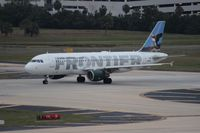 N261AV @ TPA - Frontier puffin A320 (as of 2013 wears tail number N218FR)