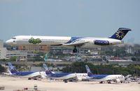 N307FA @ MIA - Dutch Antilles Express MD-83 (folded August 2013)