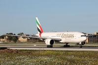 A6-EMJ @ LMML - B777 A6-EMJ Emirates Airlines - by Raymond Zammit