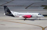 N343AG @ FLL - Silver Airways Saab 340