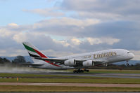 A6-EED @ EGCC - a380 departing manchester gloomy day - by alex kerr