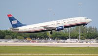 N409US @ PBI - US Airways 737-400