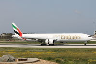 A6-EMP @ LMML - B777 A6-EMP Emirates Airlines. - by Raymond Zammit