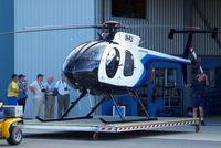 VH-PLX @ YRED - McDonnell Douglas MD-500E (369E) [0338E] (Aeropower) Redcliffe~VH 19/03/2007