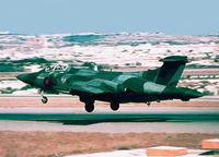 XV168 @ LMML - HS Buccaneer XV168 of 12 Squadron RAF departing RW24 RAF Luqa Malta.