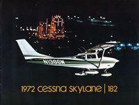 N1386M @ KGDB - Sales Brochure 1972 182P Serial number 1 - by Corporate Cessna Sales staff