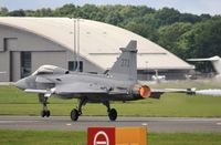 39273 @ EGLF - Take off to display at FIA 2012 - by John Coates