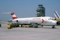 OE-LDA @ LOWW - My favorite Austrian paint sceme... Tail on the right is from Air France B707 F-BLCG - by redcap1962