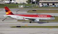 N446AV @ FLL - Avianca A320