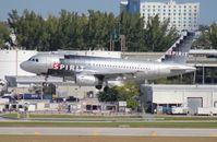 N523NK @ FLL - Spirit A319