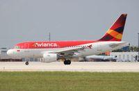 N592EL @ MIA - Avianca A318