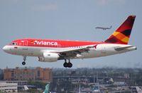 N593EL @ MIA - Avianca A318
