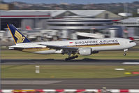 9V-SVG @ SYD - Singapore Airlines B777-200 touching down in Sydney - by mt334