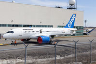 C-GWXK @ CYMX - Bombardier CSeries newest test bird FTV4 towed back into the hanger after having been outside on this beautiful spring day. - by Patrick Cardinal