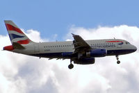 G-EUPL @ EGLL - Airbus A319-131 [1239] (British Airways) Home~G 27/08/2011. On approach 27L. - by Ray Barber