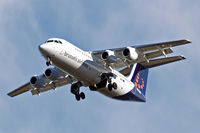 OO-DWB @ EGLL - BAe 146-RJ100 [E3315] (Brussels Airlines) Home~G 14/02/2011. On approach 27R.