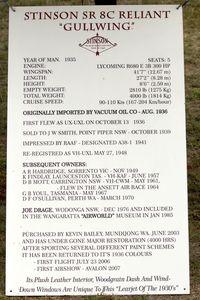 VH-UXL @ YTEM - History of the 1936 Stinson Sr8C Reliant Gullwing