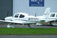 N123DV @ EGBJ - parked outside the RGV hangar at Staverton - by Chris Hall