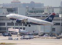 N708UW @ MIA - US Airways A319