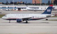 N713UW @ MIA - US Airways A319
