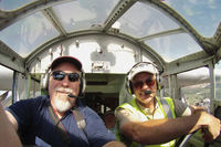N8407 @ FWS - Larry and I on the flight deck of the EAA Ford Tri-motor over Fort Worth, TX! 