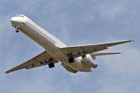 LZ-LDC @ EGLL - McDonnell Douglas DC-9-82 [49217] (Bulgarian Air Charter) Home~G 08/08/2011. On approach 27R.