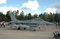 E-181 @ ESDF - F-16AM fighter of the Danish Air Force at Ronneby Air Base, Sweden. - by Henk van Capelle