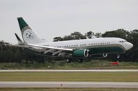 N737WH @ ORL - Miami Dolphins BBJ (became N260DV for Orlando Magic)