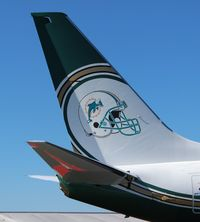 N737WH @ ORL - Miami Dolphins BBJ