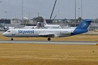 VH-FSW @ YPPH - Fokker 100 (F28-0100), c/n: 11391 of Skywest at Pert Int - by Terry Fletcher