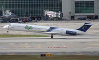 N836RA @ MIA - The last flight of DAE MD-83, it would return empty as Dutch Antilles Express would fold.